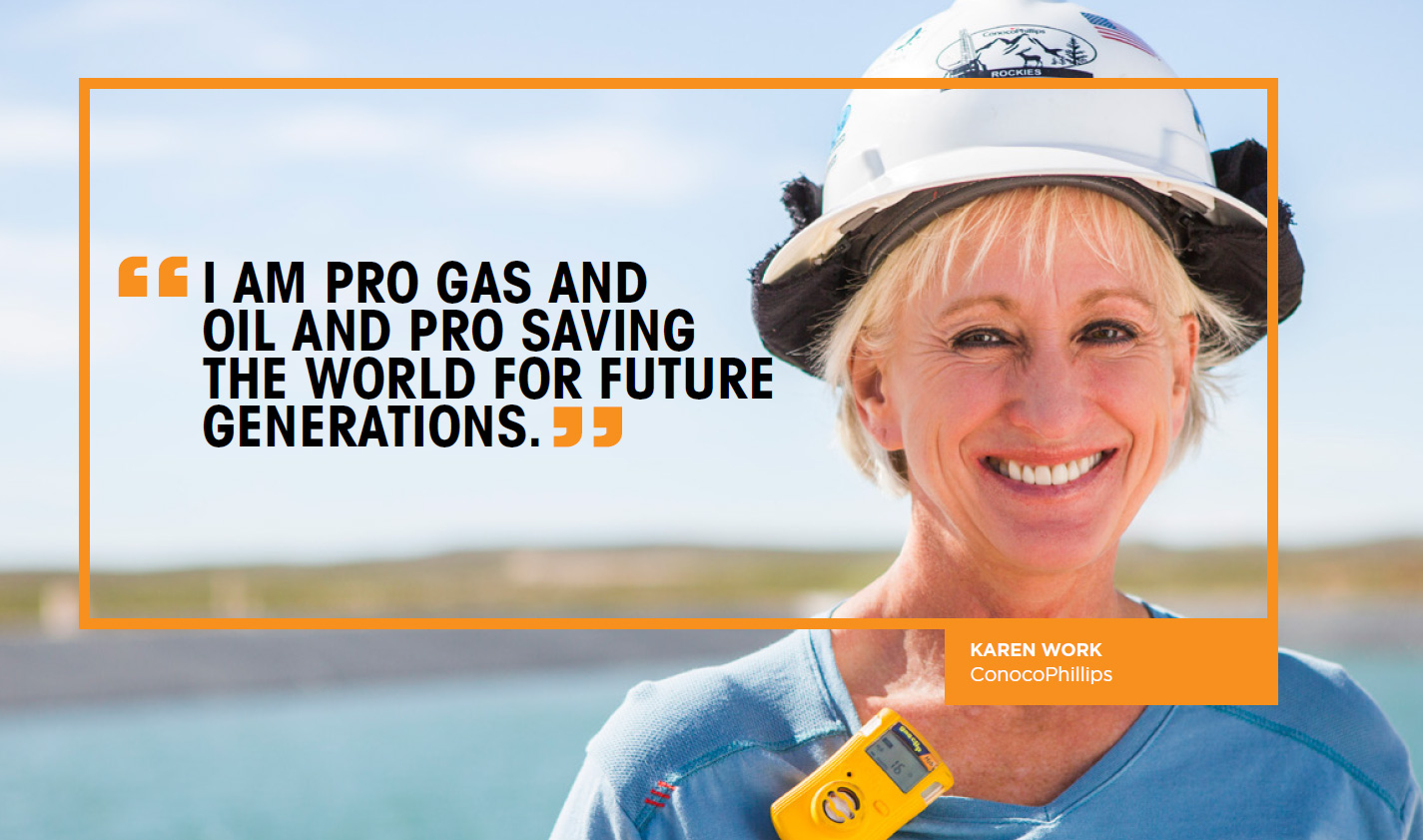 I am pro gas and oil and pro saving the world for future generations